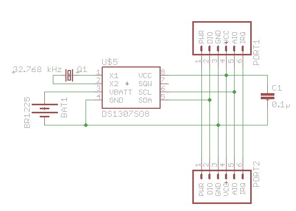 DS1307schematic