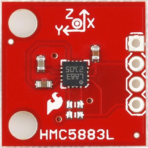 aeroquad shield HMC5883L front