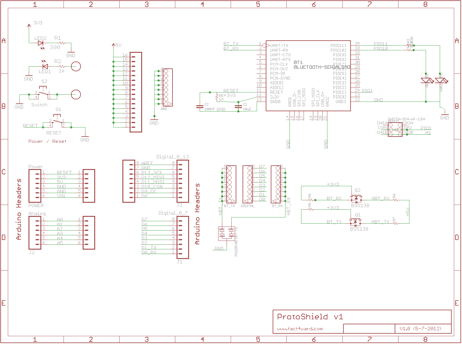 bluetooth shield schematic