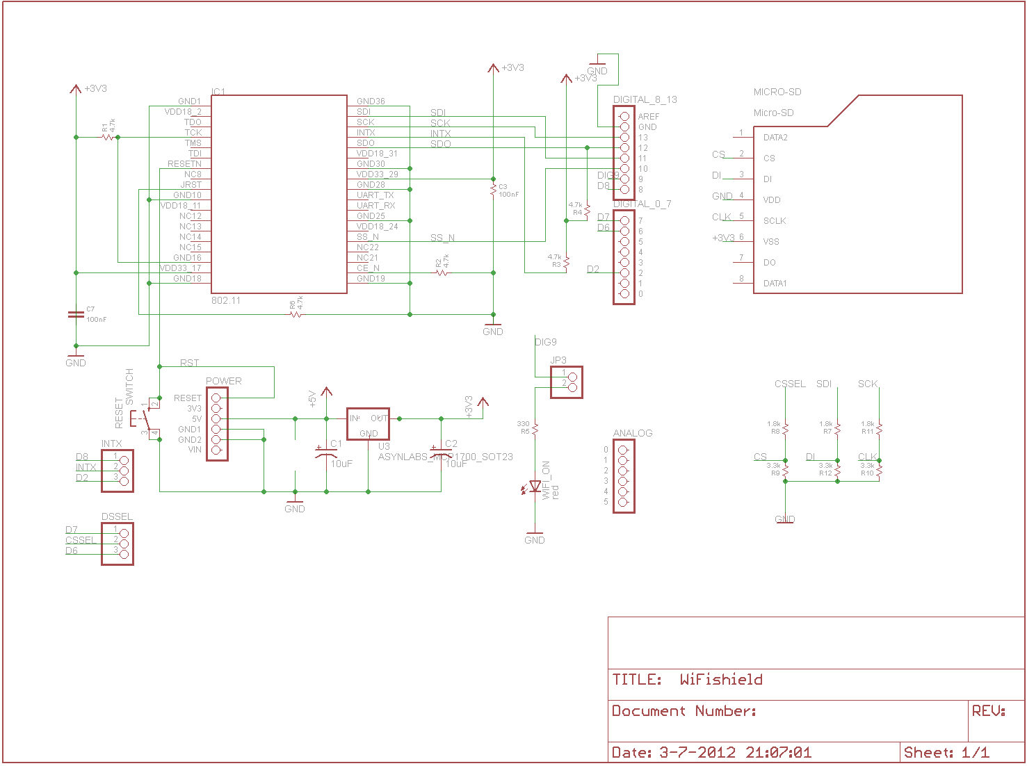 wifi shield schematic